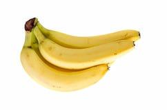Casco di banane su fondo bianco Immagini Stock