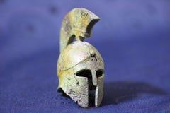 Casco di battaglia del greco antico Fotografia Stock