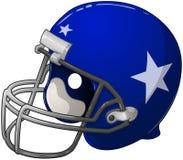 Casco di calcio blu Fotografia Stock