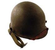 Casco di era di WWII Fotografia Stock Libera da Diritti