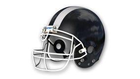 Casco di football americano isolato su fondo bianco Fotografia Stock Libera da Diritti