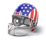 Casco di gioco del calcio degli S.U.A. Fotografia Stock