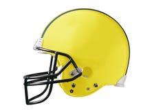 Casco di gioco del calcio giallo Fotografia Stock Libera da Diritti