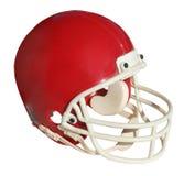 Casco di gioco del calcio rosso Fotografie Stock Libere da Diritti