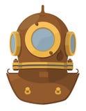 Casco di immersione subacquea del fumetto Fotografie Stock Libere da Diritti