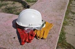 Casco di protezione del cappello duro Fotografia Stock Libera da Diritti