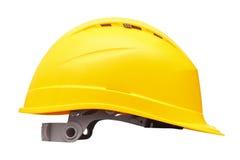 Casco di sicurezza giallo Fotografia Stock