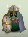 Casco di Viking dell'uovo con i corni Fotografie Stock