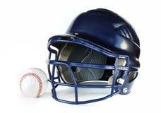 Casco e baseball Fotografia Stock Libera da Diritti