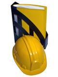 Casco e dispositivo di piegatura gialli fotografie stock libere da diritti