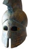 Casco espartano Foto de archivo libre de regalías