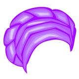 Casco femenino para la mujer, turbante Bufanda hecha punto azul brillante Ropa hermosa y elegante nacional Ilustraci?n del vector libre illustration