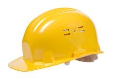 Casco giallo isolato Fotografie Stock