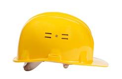Casco giallo isolato Immagine Stock Libera da Diritti