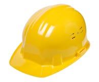 Casco giallo isolato Immagini Stock Libere da Diritti