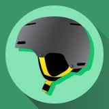 Casco grigio dello sci di vettore Fotografia Stock Libera da Diritti