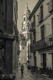 Casco historico de la ciudad de Malaga Foto de Stock