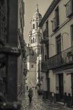 Casco historico de la ciudad de Malaga. Calle  San Agustin en Malaga, casco historico Stock Photo