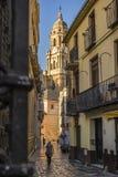 Casco Historico de Malaga Arkivbilder