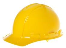 Casco isolato - giallo 45° Fotografia Stock