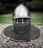Casco medieval Imagenes de archivo
