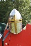 Casco medieval de los caballeros Imágenes de archivo libres de regalías