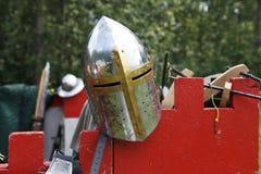 Casco medieval de los caballeros Fotografía de archivo
