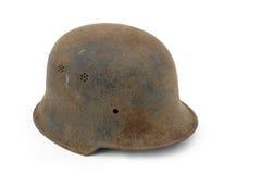 Casco oxidado del ejército alemán foto de archivo