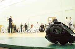 Casco para los artes marciales Imágenes de archivo libres de regalías