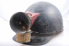 Casco per minatore dell'annata Fotografia Stock Libera da Diritti