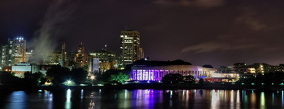 Casco por noche Foto de archivo