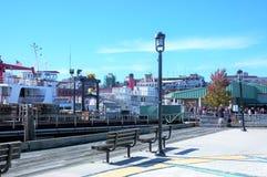 Casco Portlands Maine USA Buchtfähre stockfotografie