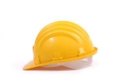 Casco protector amarillo Imagen de archivo libre de regalías