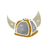 casco retro de la historieta Fotografía de archivo