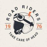 Casco retro del moto del corredor Imagenes de archivo
