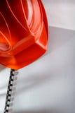 Casco rosso Immagine Stock