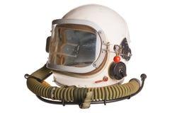 Casco russo bianco dell'aviatore dell'esercito Fotografia Stock Libera da Diritti
