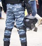 Casco su un ufficio di polizia Immagine Stock Libera da Diritti