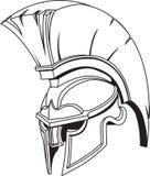 Casco trojan griego romano espartano del gladiador Imágenes de archivo libres de regalías