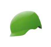 Casco verde aislado Imágenes de archivo libres de regalías