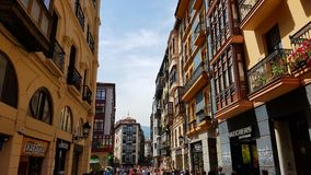Casco Viejo,毕尔巴鄂,西班牙外部  免版税图库摄影