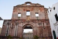 Casco Viejo городка Панамы старое в ¡ Panamà вечером стоковые фото