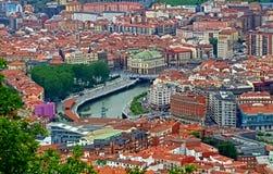 Casco viejo. Las Siete Calles, also known as Casco Viejo or Zazpikaleak or Alde Zaharra in Basque, the medieval neighbourhood of Bilbao in Basque County, Bilbao Stock Photos