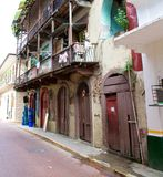 Casco Viejo. Old buildings in Casco Viejo in Panama City Panama. Casco Viejo is the historic district of Panama City. Completed and settled in 1673. It was Stock Photography