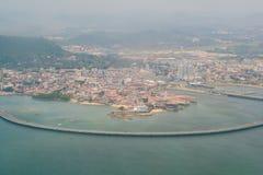 Casco Viejo, Panama City aerial royalty free stock photo