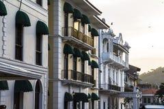 Casco Viejo in Panama City. Old renovated buildings in Casco Viejo, Panama City Royalty Free Stock Photo