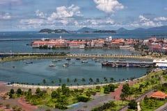 Casco Viejo schronienie w Panamskim mieście zdjęcie royalty free