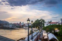 Casco Viejo view in the Plaza de Francia - Panama City, Panama Royalty Free Stock Photography