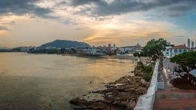 Casco Viejo view in the Plaza de Francia - Panama City, Panama Royalty Free Stock Images