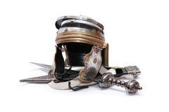 Casco y espada Fotografía de archivo libre de regalías